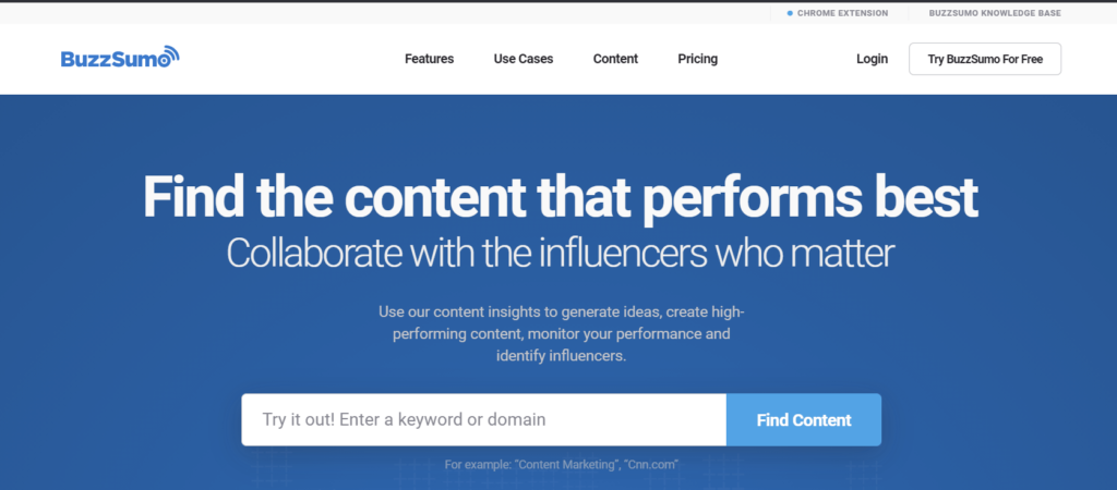 Best-content-idea-generator-tools-for-marketers-by-MUSKLY-BuzzSumo